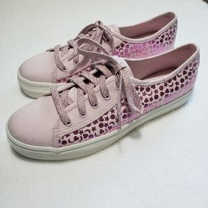 Keds Pink Kickstart Iridescent Stud sneakers